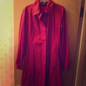 Large Red GAP Trench Coat.